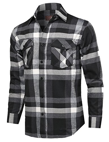 Black And White Flannel Shirt - 7