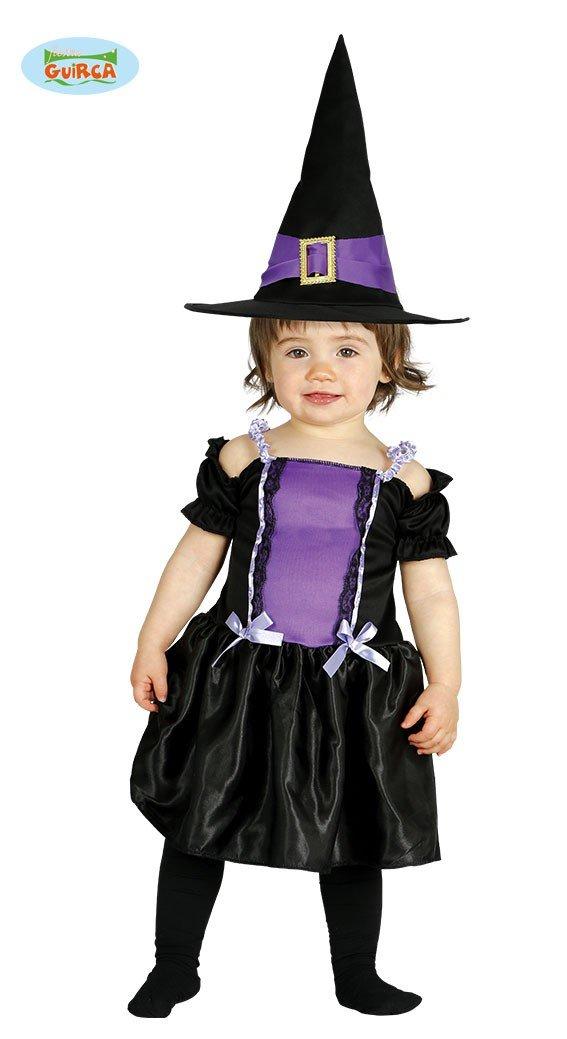 Baby Hexenkostüm Kostüm Hexe für Kinder Hexen Halloween Babykostüm Gr. 74-92, Größe:86/92 Größe:86/92 Guirca
