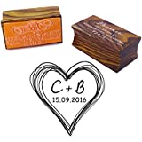 Personalized Save The Date Round Stamp Custom Wood Mounted Rubber Stamp Wedding Gift
