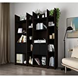 Bestar Furniture 16854-79 Small Space Storage Wall Unit in Dark Chocolate and