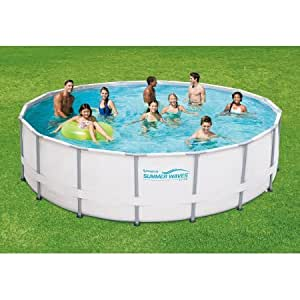 Summer waves elite 16 39 x 48 round premium - Summer waves pool ...
