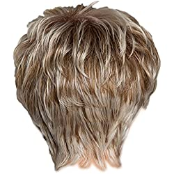 Fityle Short Fringe Wig Blend 26cm, Natural Human Hair Wigs, Fluffy Full Head Hairpieces Heat Resistant Daily Party Wear