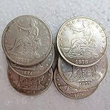 US Coins (1873-1878)-S TRADE DOLLARS 6pcs Coins