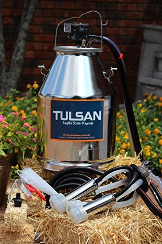 Portable bucket milker for cows 30L with silicone liners by Tulsan by Tulsan