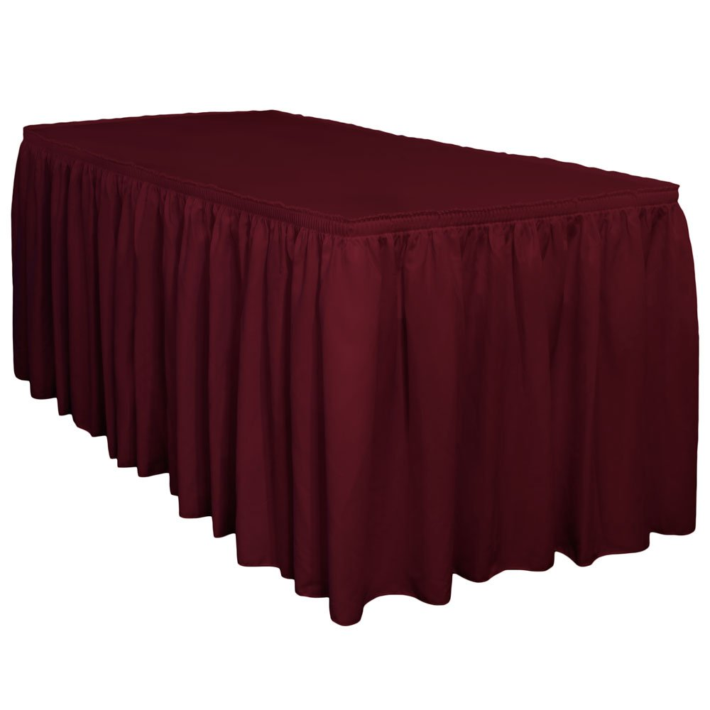 Amazon.com: 13 Ft. Premium Wrinkle Release Shirred Pleat Table Skirt By  TableLinensforLess (Burgundy): Home U0026 Kitchen