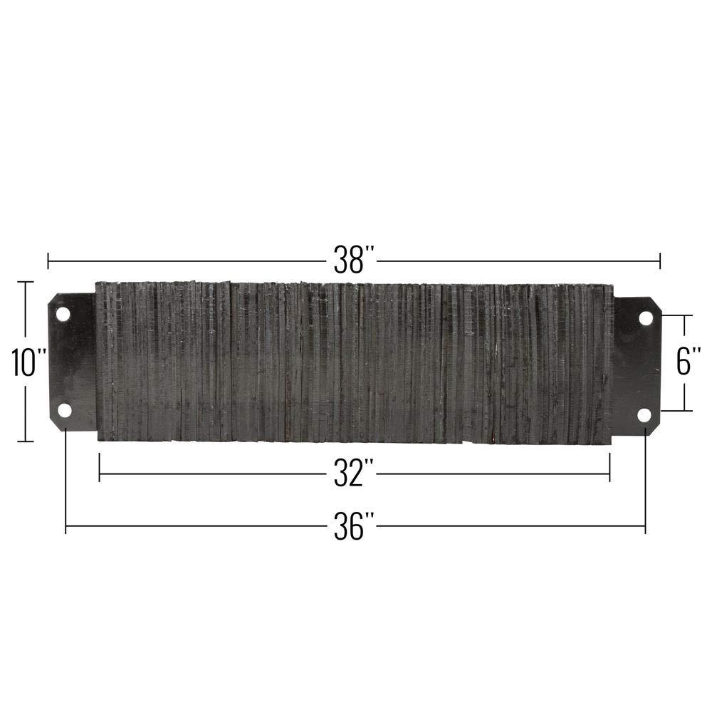 Guardian Dock Bumper 16W x 10H x 4 1//2D Horizontal Laminated Rubber