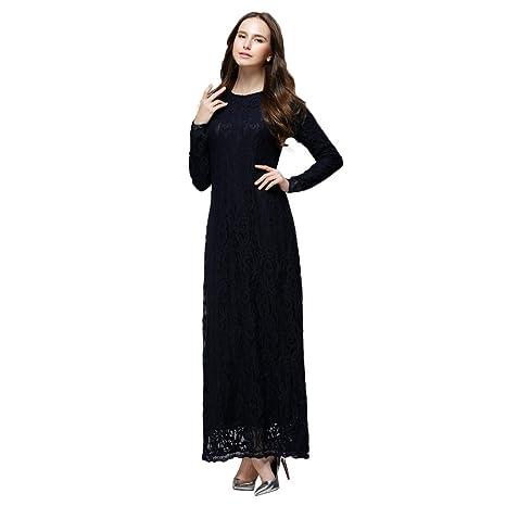 77ab53f8e3e Amazon.com  Muslim Dress Dubai Kaftan Women s Long Sleeve Long Dress Abaya  Islamic Clothing Girls Arabic Caftan  Sports   Outdoors