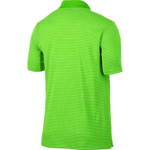 Nike Victory Mini Stripe Golf Polo (Medium, Lime Green)