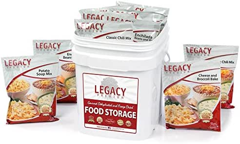 Long Term Gluten Free Food Storage: 60 Large Servings - 16 lbs Emergency Survival Meals - Disaster Insurance Supplies with 25 Year Shelf Life - Prepper