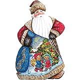 Trim A Tree Dance Santa 8'' Woodcarved Santa