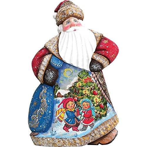 Trim A Tree Dance Santa 8'' Woodcarved Santa by FindingKing