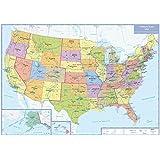 Politische Karte USA: plano in Versandrolle, 1:5 Mio. (Busche Planokarten)