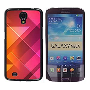 Stuss Case / Funda Carcasa protectora - Polygon Pattern Purple Orange Clean - Samsung Galaxy Mega 6.3 I9200 SGH-i527