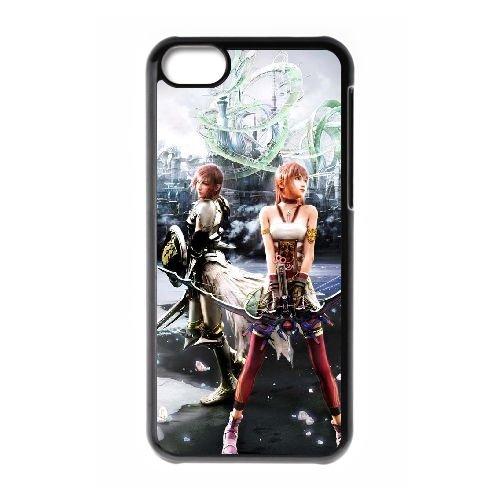 V5P88 Final Fantasy XIII H3G2QW coque iPhone 5c cellulaire cas de téléphone couvercle coque noire HW7SXU2CJ