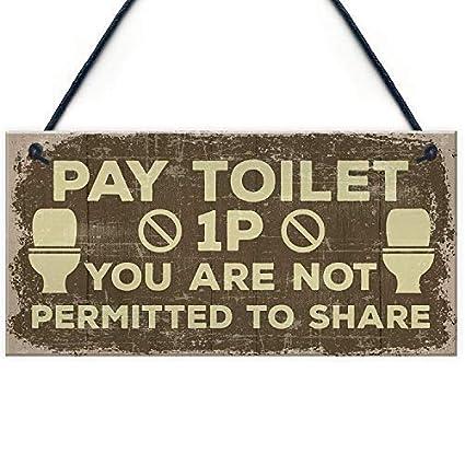 Amazon Com Cheyan Shabby Chic Bathroom Signs Door Plaque Toilet