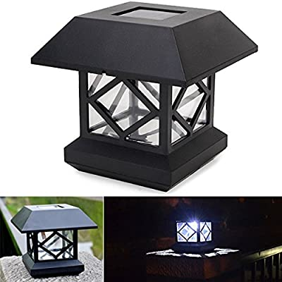 1.2V Garden Lawn Solar White LED Pillar Lamp Outdoor Cottage Courtyard Fence Light