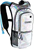 Cheap Sojourner Rave Hydration Pack Backpack – 2L Water Bladder Included for Festivals, Raves, Hiking, Biking, Climbing, Running and More (Multiple Styles) (Holographic – Silver)