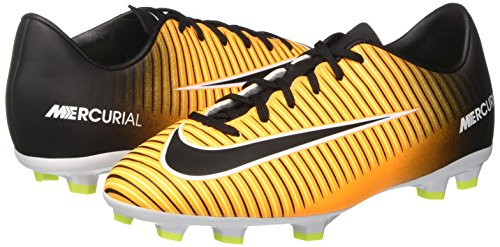 Nike Unisex Jr Mercurial Victory Vi Fg Laser Oransje, Svart, Hvit, Volt