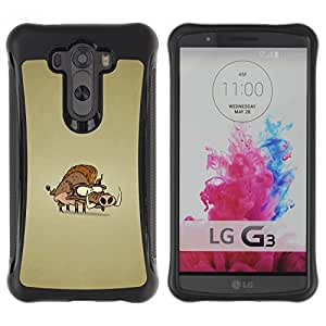 CAZZ Rugged Armor Slim Protection Case Cover Shell // Funny Wild Pig // LG G3