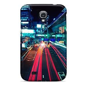 Hot Design Premium XUrEq2886zPOgN Tpu Case Cover Galaxy S4 Protection Case(tokyo Night)