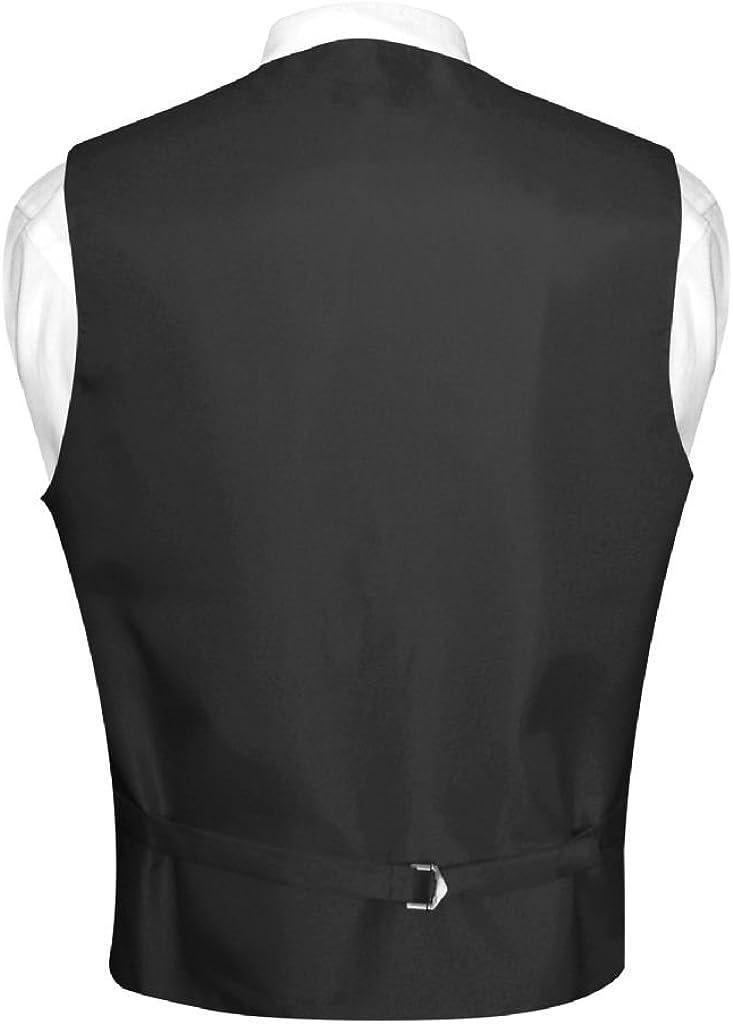 Mens Dress Vest /& Necktie Solid Silver Gray Neck Tie Set for Suit or Tuxedo