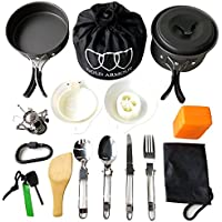 Gold Armour 10-17Pcs Camping Cookware Mess Kit...