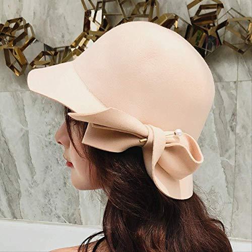 Wool Pearls Felt Hat Women...