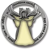 Cathedral Art GVC101 Glow in The Dark Guardian Angel Visor Clip, Light My Way, 1-3/4 Inch