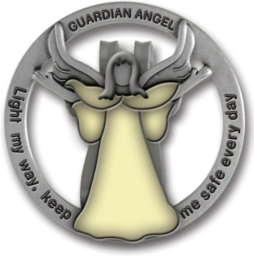 Cathedral Art GVC101 Glow in The Dark Guardian Angel Visor Clip, Light My Way, 1-3/4 Inch Guardian Angel Birthday