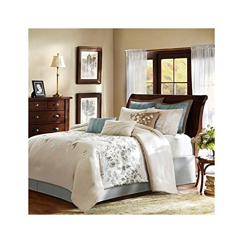 Harbor House Savannah 4-Piece Comforter Set, California King, Beige