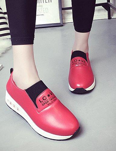 Casual Cn39 Black Semicuero Blanco Zapatos Redonda Rojo Punta Mujer Uk6 Uk6 us8 Eu39 Cn40 5 Negro Zq us8 5 Tacón Gyht De Bajo Red Mocasines FSOvz1q