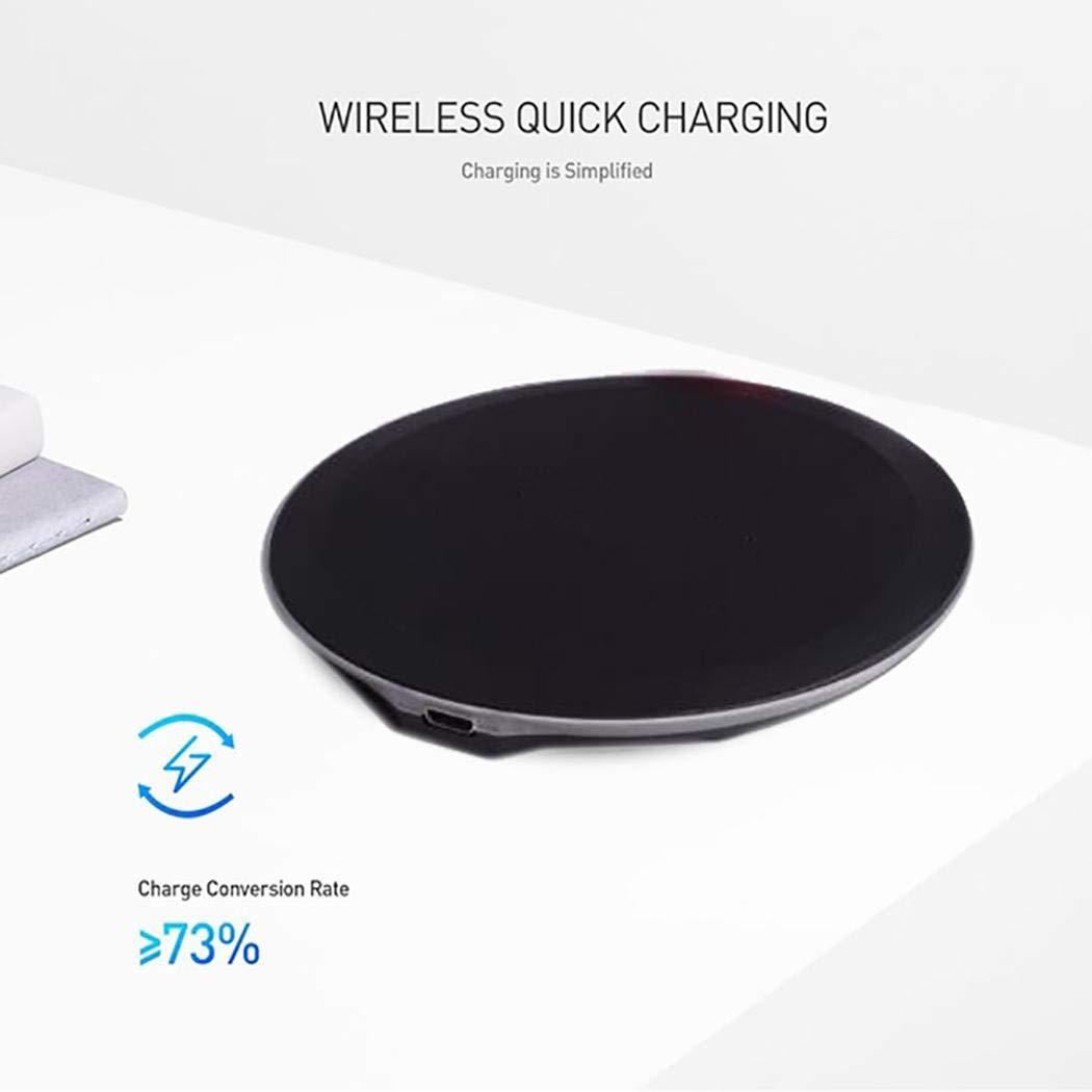 Junio1 Pratico Caricabatterie Wireless per Telefono da casa Portatile da Viaggio Portatile Caricabatterie a induzione