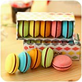 kawaii Macaron Shape Erasers For Kids, Pack of 10 (10 Pcs, Macaron shape)