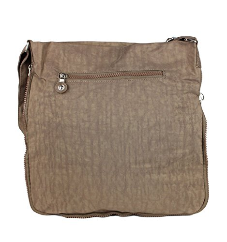 Bag Street - Bolso cruzados de nailon para mujer marrón