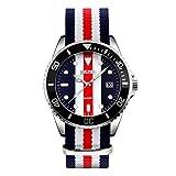Men's Fashion Analog Quartz Business Casual Watch Unisex Women Cloth Wrist Watch Nylon Band Dress Watches for Men