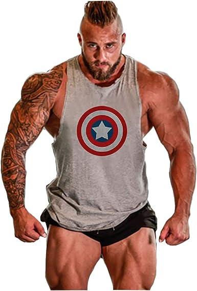 captain america sleeveless t shirt