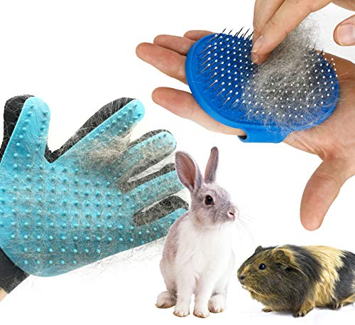 Dasksha Rabbit Grooming Kit with Rabbit Grooming Brush – Rabbit Hair Brush and Rabbit Hair Remover- Bunny & Guinea Pig