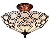 Amora Lighting AM108CL17 Tiffany Style Ceiling Fixture Lamp - 17