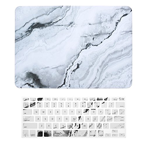 COSMOS Rubberized Plastic Hard Shell Cover Case with Silicone Keyboard Cover Skin for MacBook Pro 13