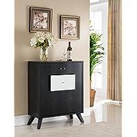 Modern Fine Dining Wine Dark Espresso Storage Buffet Cabinet