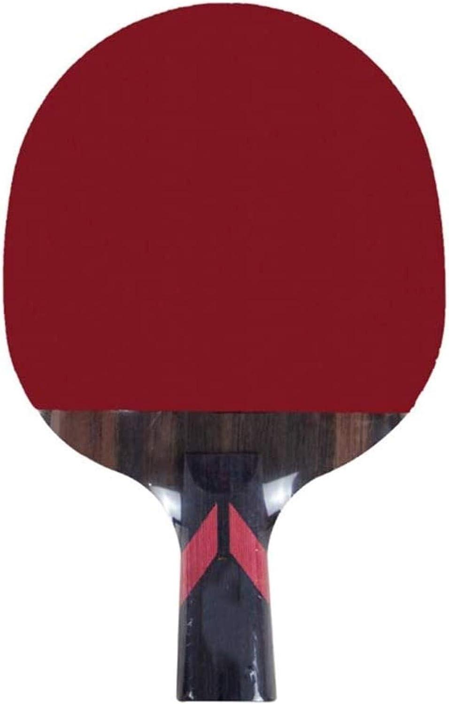 Pádel de Mesa Individual largas y Cortas de Carbono de Madera de 6 Estrellas inversa Doble 15x24cm Formación de Adultos de Goma Estudiante Tabla Raqueta de Tenis Paleta de Ping Pong dúplex,Tama?o:15X2