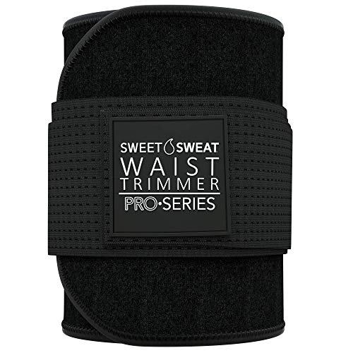 Premium Sweet Sweat Waist Trimmer 'Pro Series' Belt with Adjustable Velcro Straps for Men & Women
