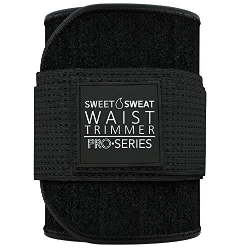 Sweet Sweat 'Pro Series' Waist Trimmer (BLK/White, M - L)