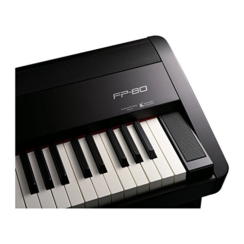 Roland FP-80-BKC | Portable 88 Key Digital Piano with Stand Black