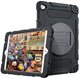 iVAPO iPad Mini 4 Case for Kids, Thick Armor Hybrid Rugged Silicone, Shock Proof, Absorbing Protective Case with Kickstand for Apple iPad Mini4, Black