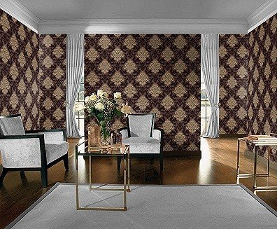 wohnzimmer tapete braun. Black Bedroom Furniture Sets. Home Design Ideas