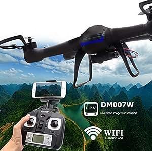 Yacool® Nighthawk Dm007w Wifi en tiempo real 2.4g más nuevo Rc Quadcopter Drone RTF UAV ingenio UFOh FPV cámara