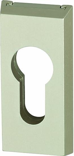 neusilber ABUS T/ür-Schutzrosette RS309 f/ür Metallt/üren 03675