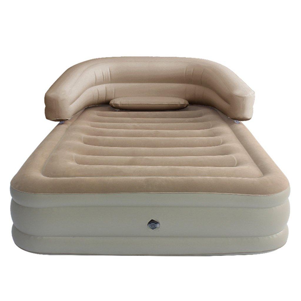 インフレータブルソファクイーンサイズエアマットレスソファ。室内または屋外での使用に最適。快適な肘掛けと背もたれを備えたこのエアベッドは、キャンプ用またはゲスト用ベッドとして素晴らしいです。 (色 : シングル) B07DHQKNW3 シングル シングル
