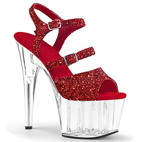 tacchi sandali alti YMFIE Europeo paillettes moda gules di temperamento party dita banchetti tacchi estivo di nozze sexy per S8Sqnfvr